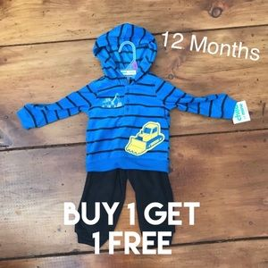 Other - 12M Baby Boy Sweatshirt & Pants Outfit